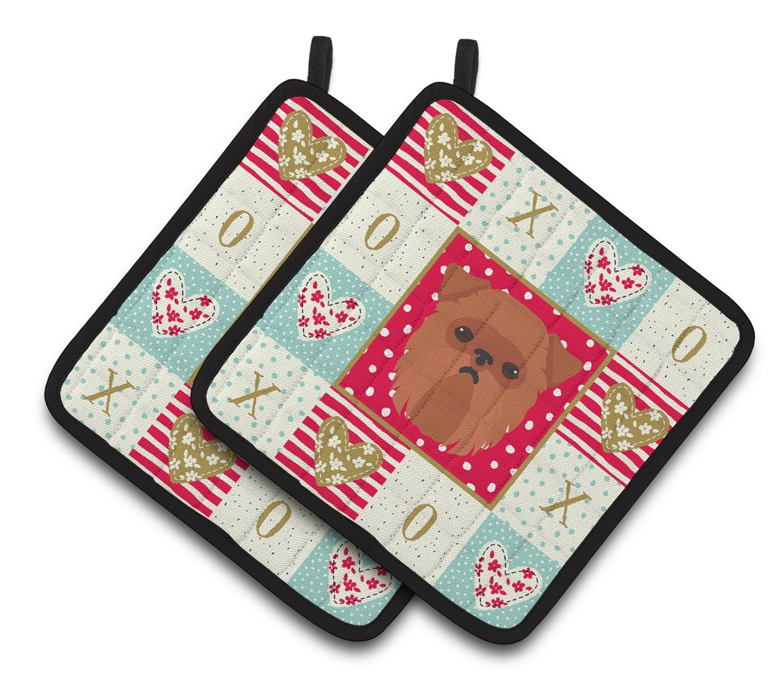 Brussels Griffon Love Pair of Pot Holders CK5188PTHD by Caroline's Treasures