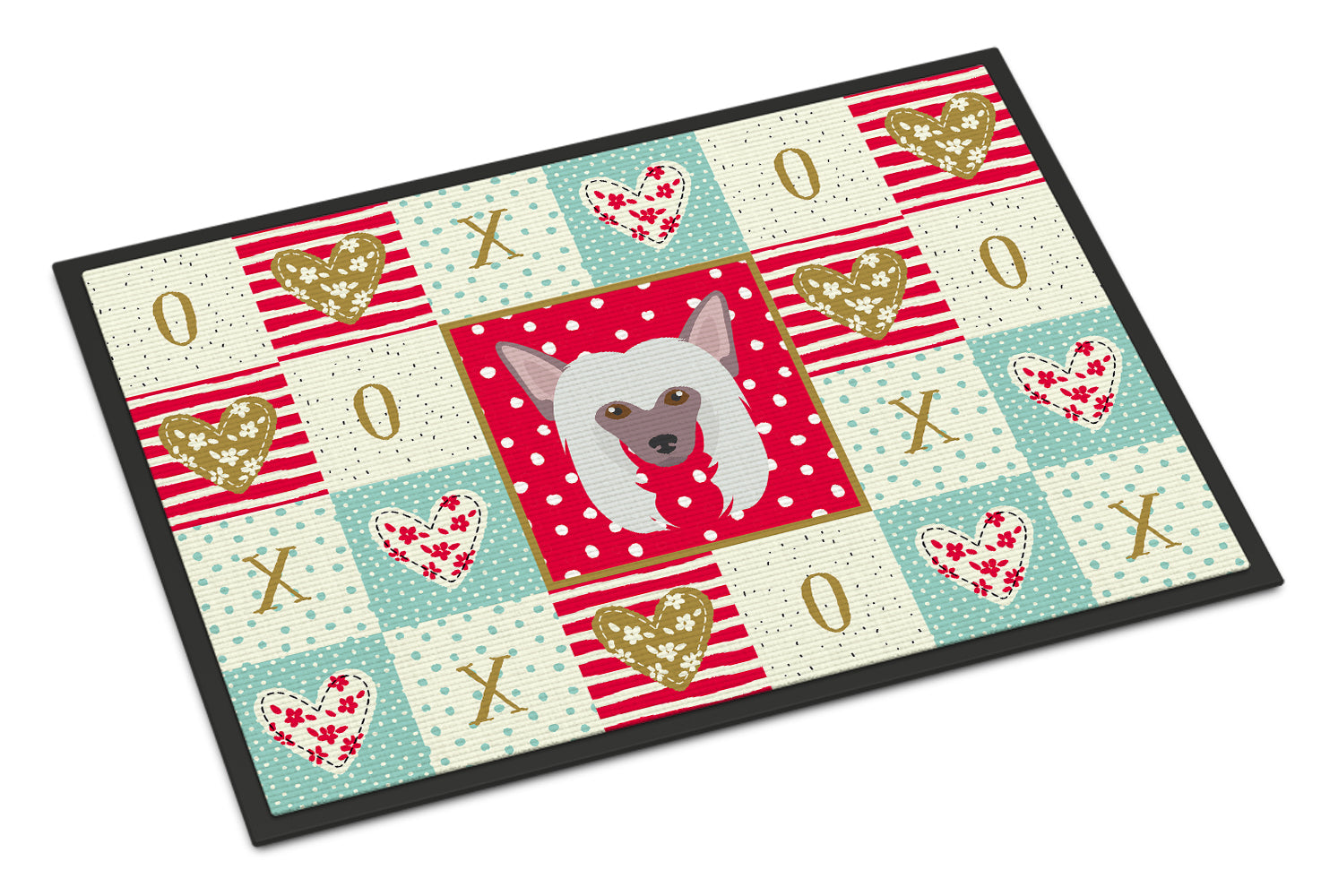 Buy this Chinese Crested Love Indoor or Outdoor Mat 18x27 CK5191MAT