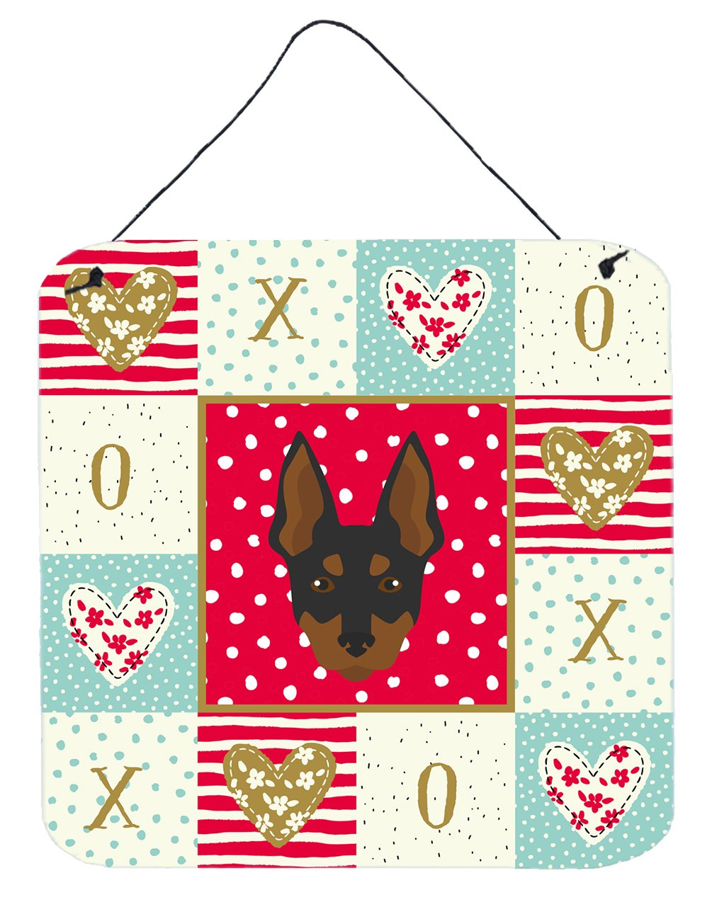Buy this English Toy Terrier Love Wall or Door Hanging Prints CK5198DS66