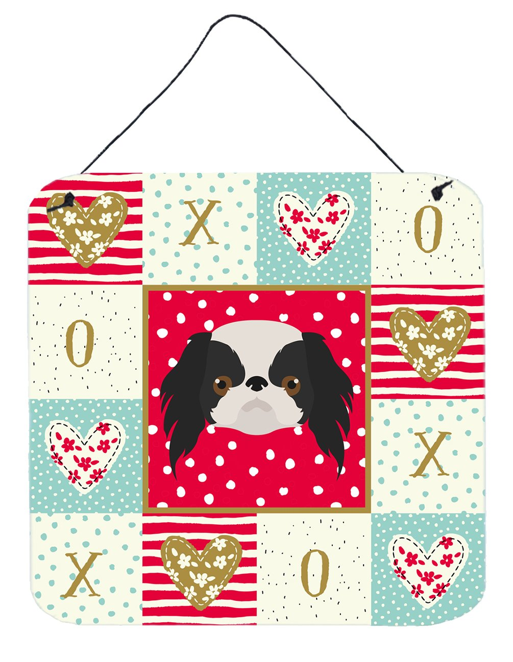 Japanese Chin Love Wall or Door Hanging Prints CK5209DS66 by Caroline's Treasures