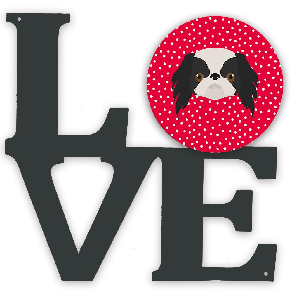 Japanese Chin Love Metal Wall Artwork LOVE CK5209WALV by Caroline's Treasures