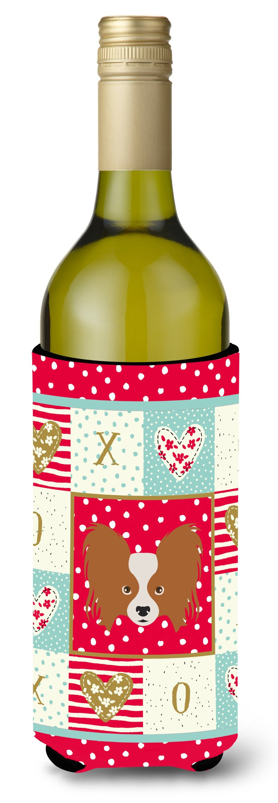 Papillon Wine Bottle Beverage Insulator Hugger CK5224LITERK by Caroline's Treasures