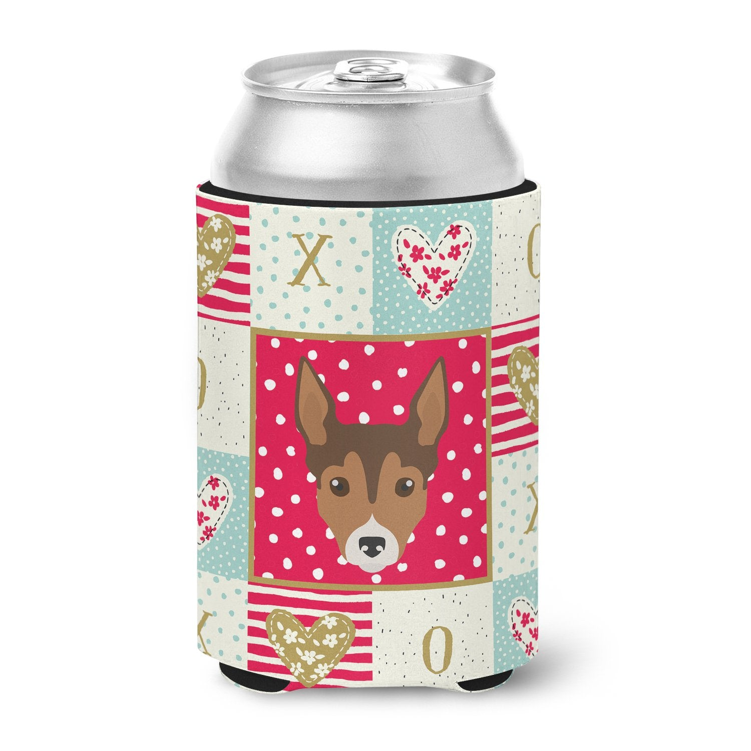 Tenterfield Terrier Love Can or Bottle Hugger CK5239CC by Caroline's Treasures