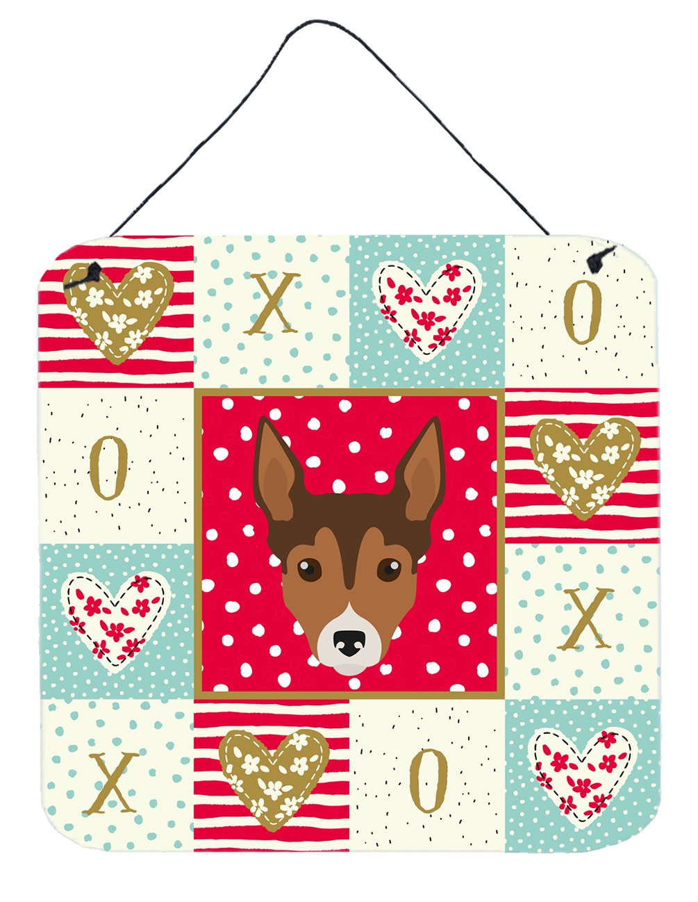 Tenterfield Terrier Love Wall or Door Hanging Prints CK5239DS66 by Caroline's Treasures