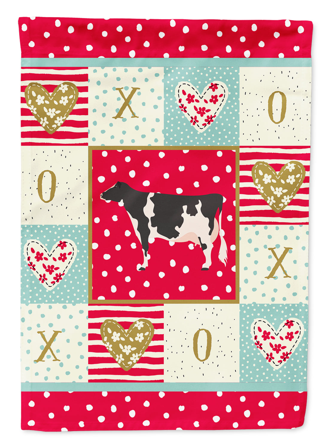 Holstein Cow Love Flag Canvas House Size CK5249CHF by Caroline's Treasures