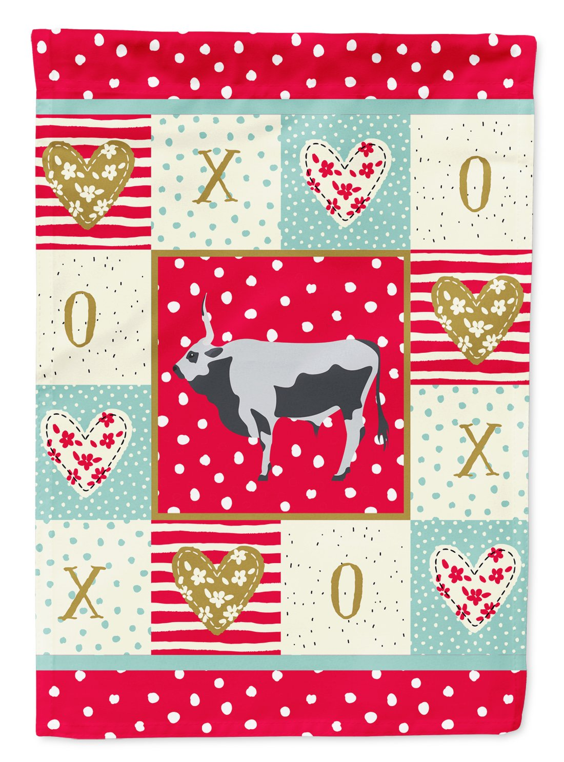 Hungarian Grey Steppe Cow Love Flag Garden Size CK5251GF by Caroline's Treasures