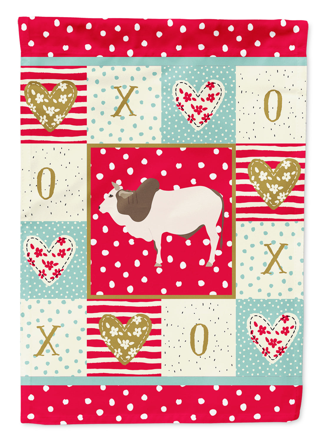 Malvi Cow Love Flag Canvas House Size CK5257CHF by Caroline's Treasures