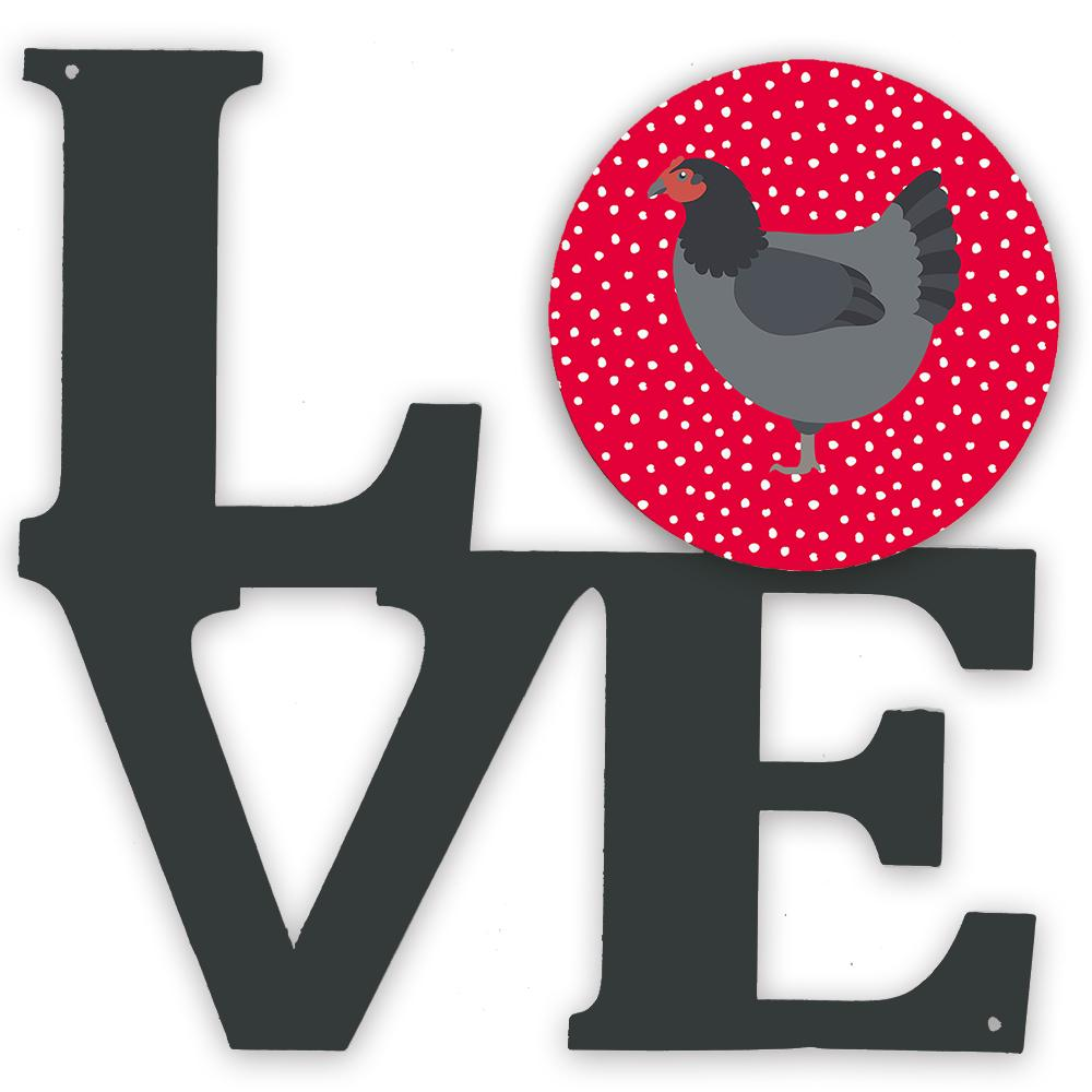 Jersey Giant Chicken Love Metal Wall Artwork LOVE CK5262WALV by Caroline's Treasures