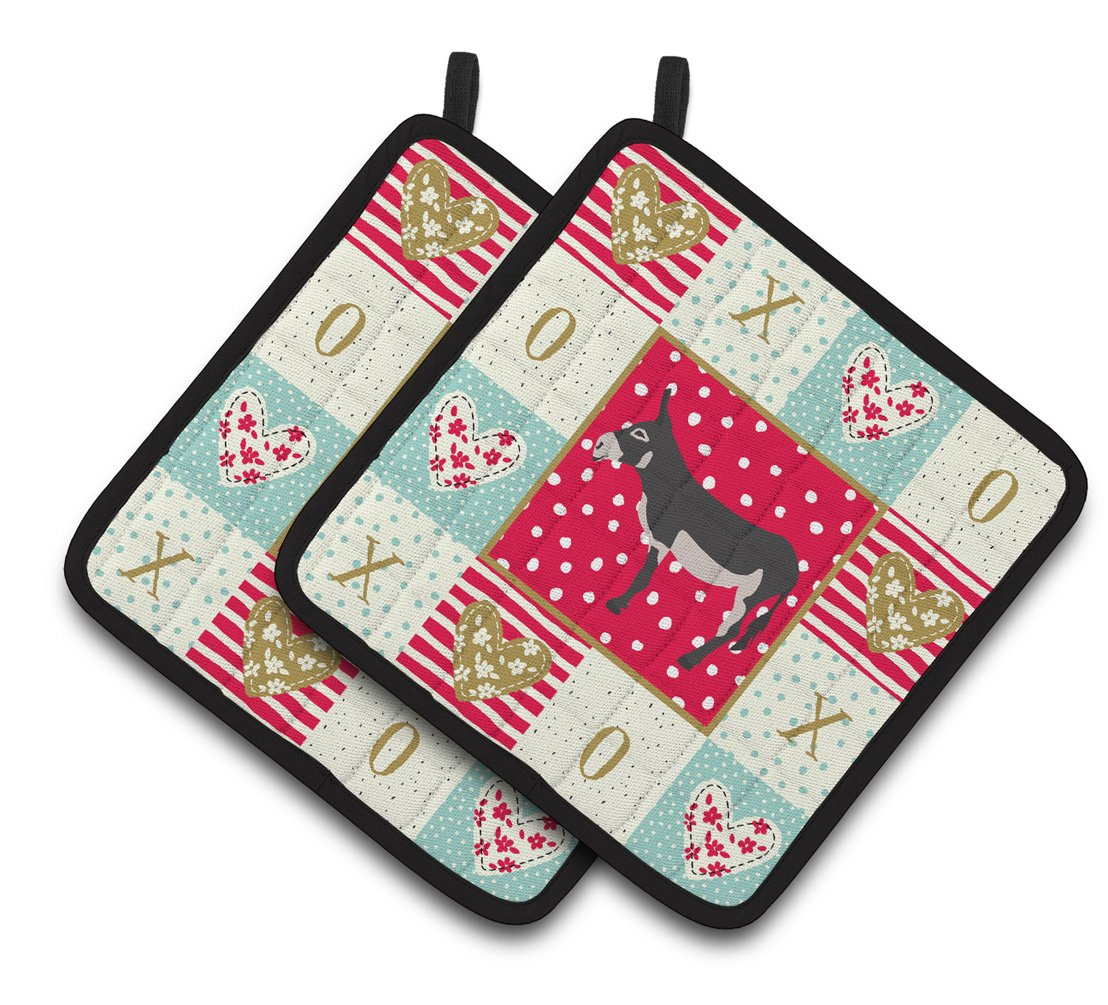 Buy this American Mammoth Jack Donkey Love Pair of Pot Holders CK5271PTHD