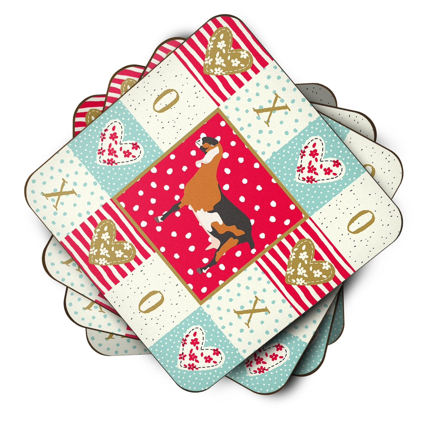Buy this Set of 4 Anglo-nubian Nubian Goat Love Foam Coasters Set of 4 CK5310FC