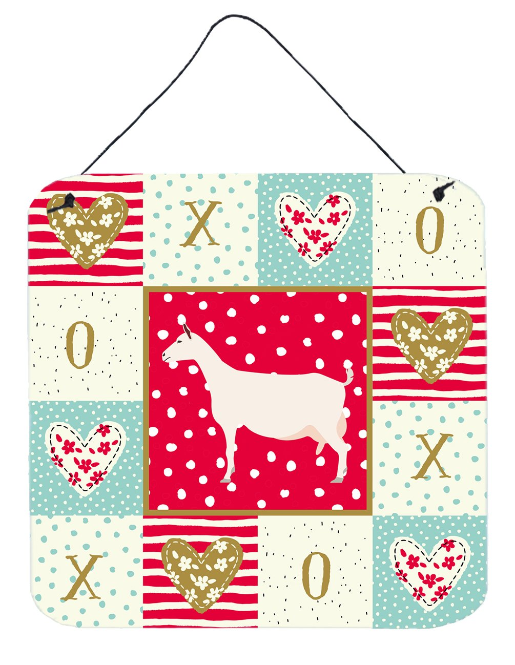 Buy this Saanen Goat Love Wall or Door Hanging Prints CK5316DS66