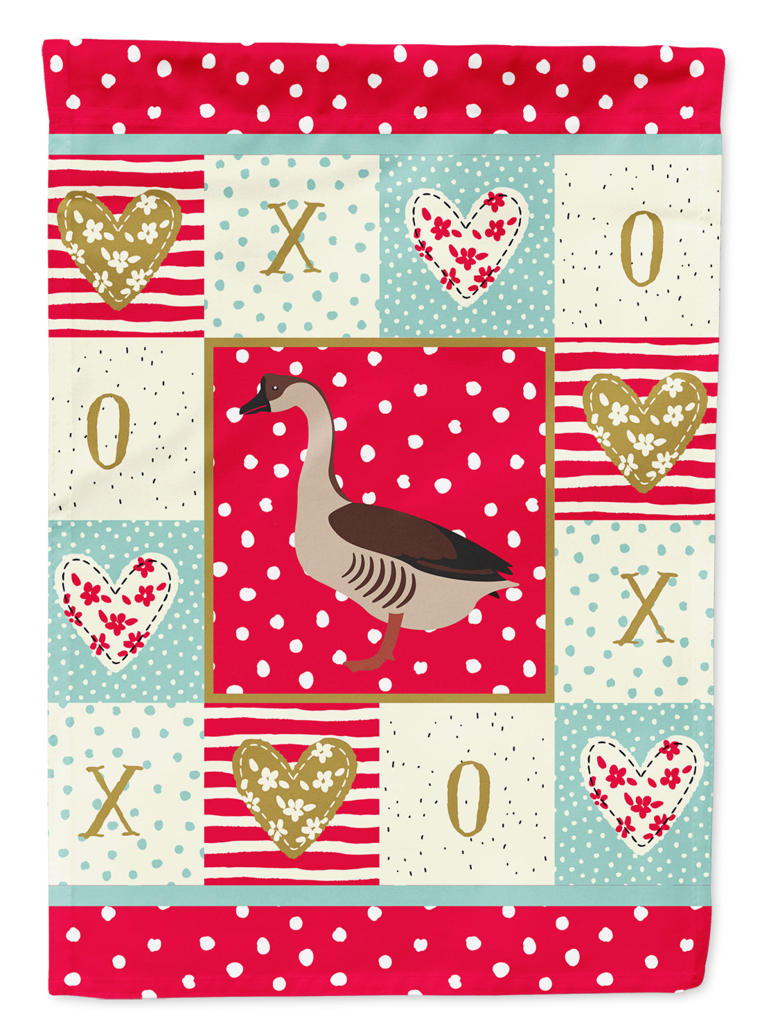 Chinese Goose Love Flag Canvas House Size CK5323CHF by Caroline's Treasures