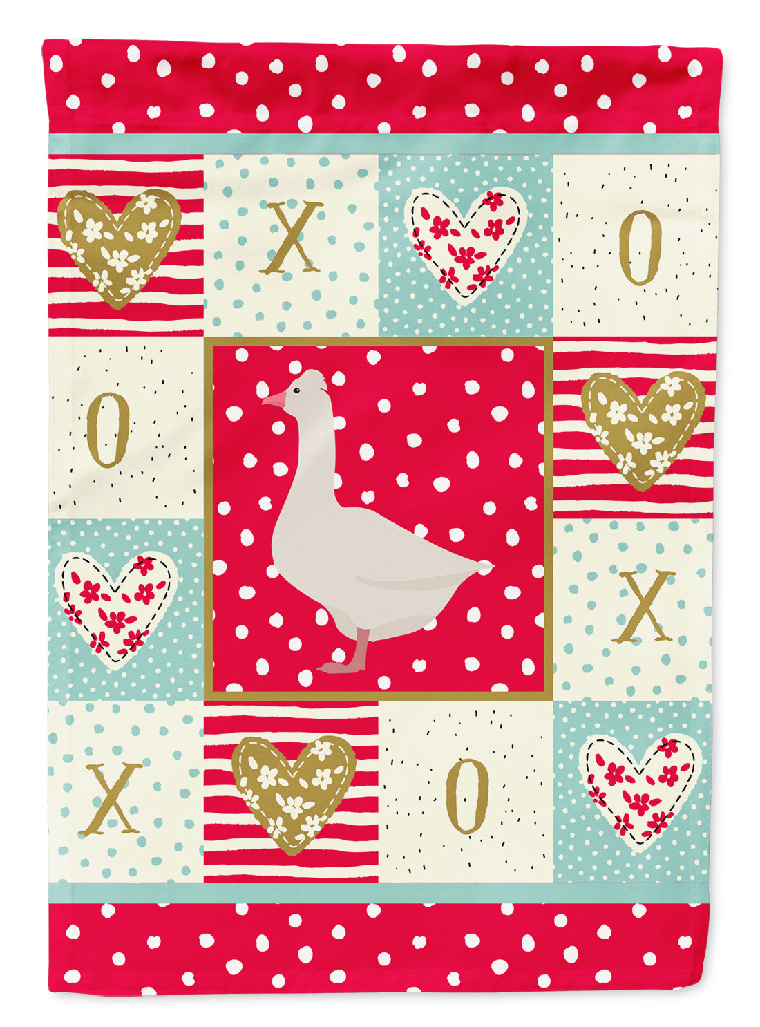 Roman Goose Love Flag Canvas House Size CK5325CHF by Caroline's Treasures