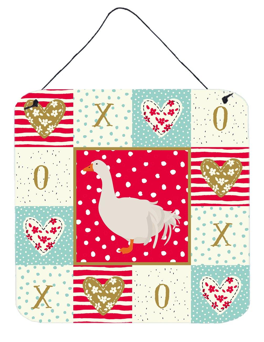 Sebastopol Goose Love Wall or Door Hanging Prints CK5329DS66 by Caroline's Treasures