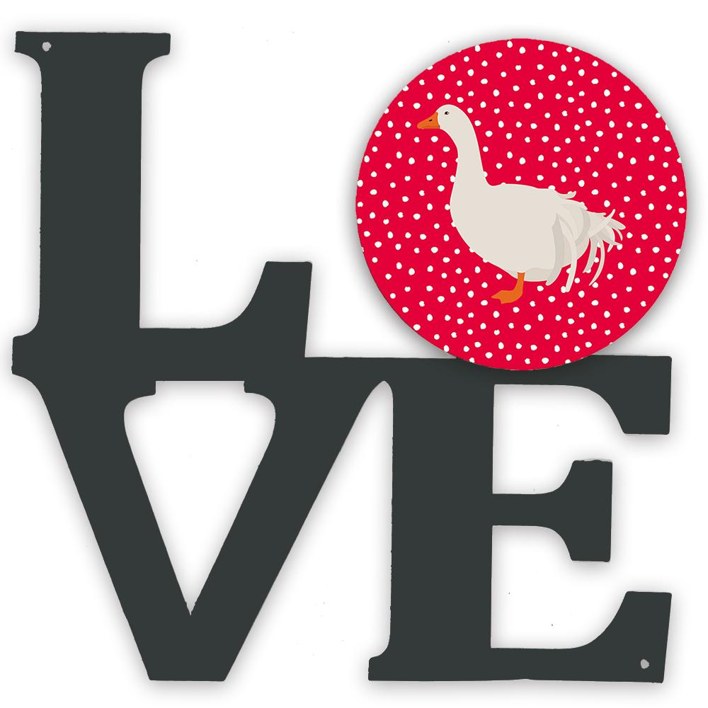 Sebastopol Goose Love Metal Wall Artwork LOVE CK5329WALV by Caroline's Treasures