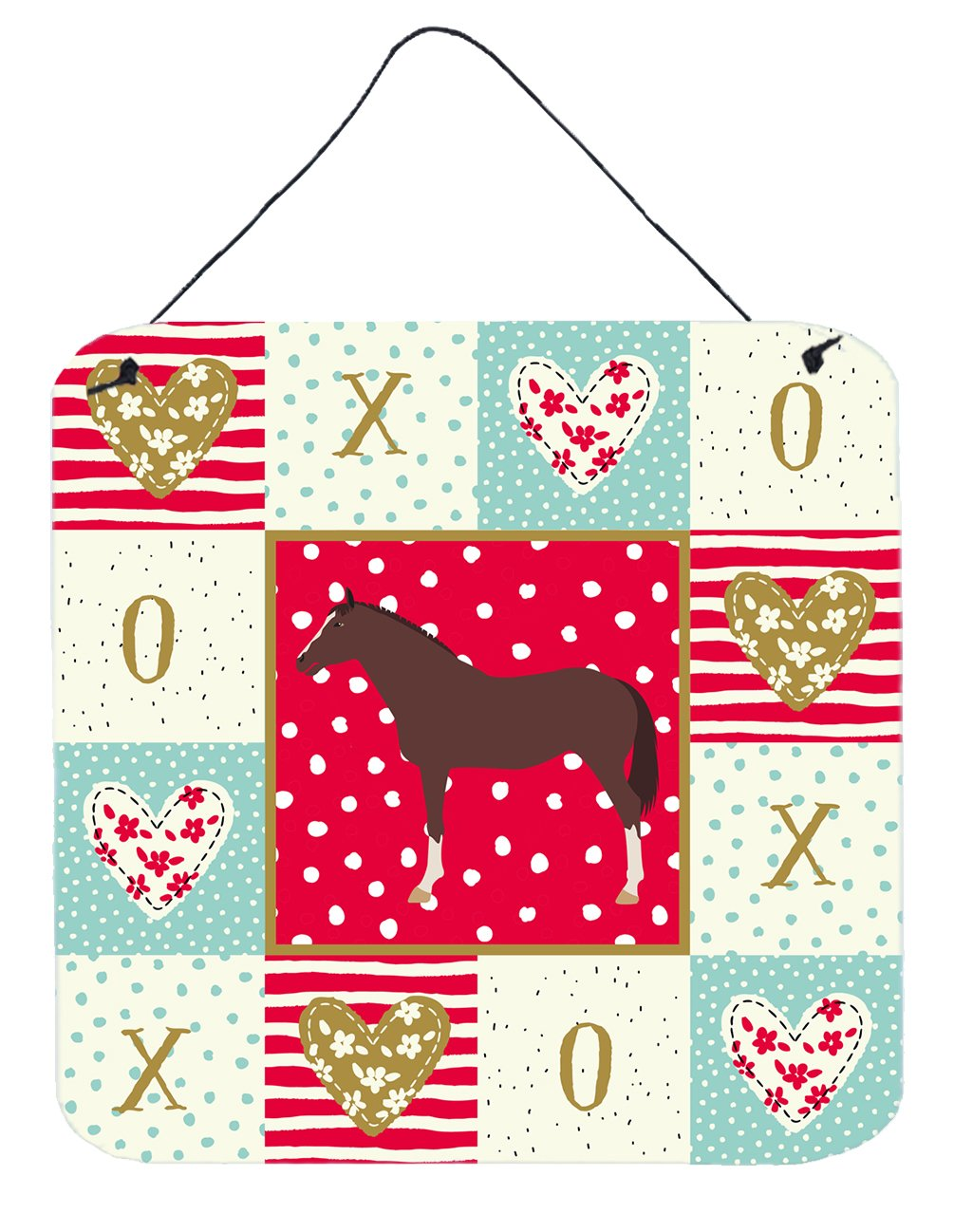 Buy this English Thoroughbred Horse Love Wall or Door Hanging Prints CK5340DS66
