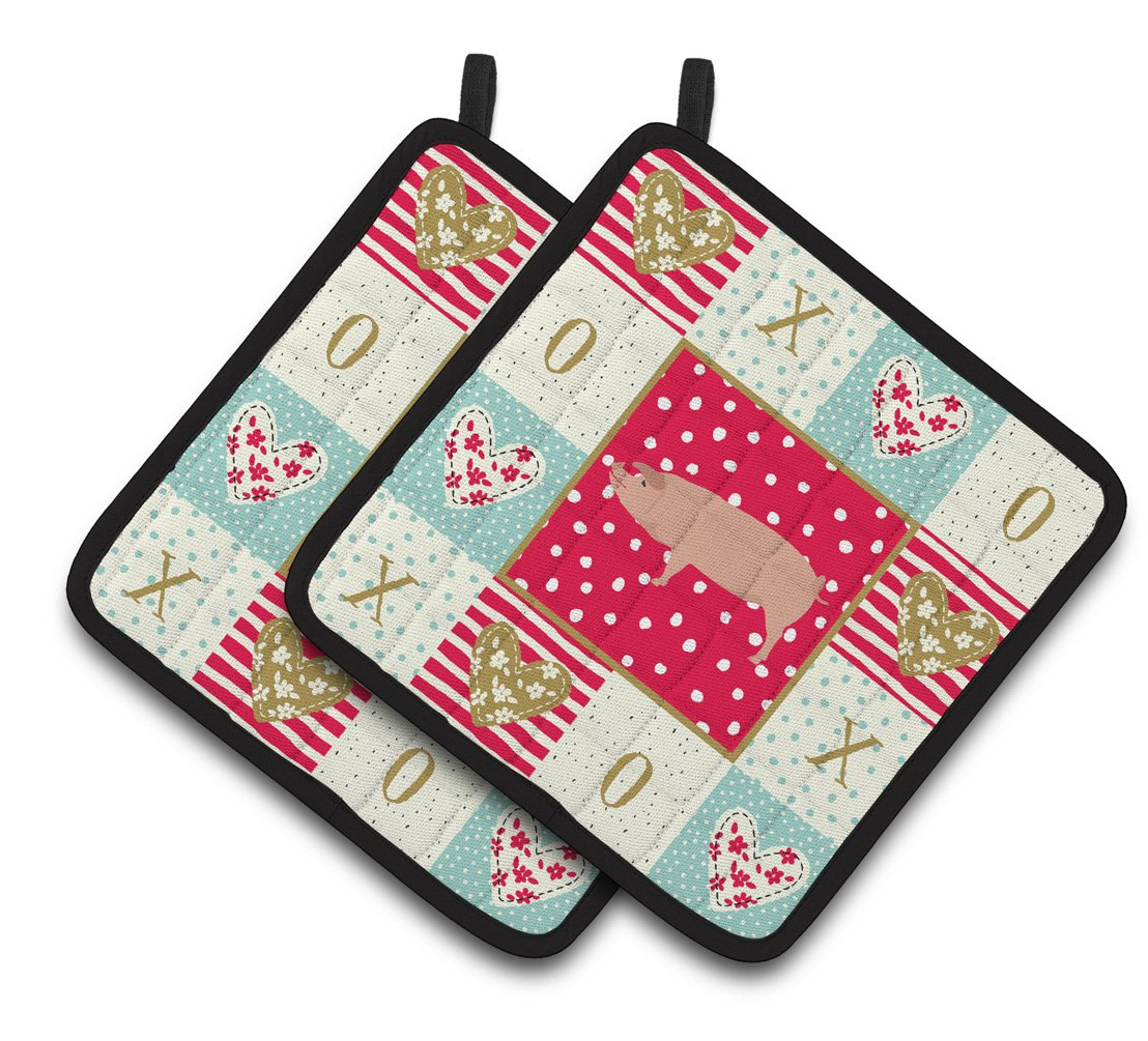 Buy this American Landrace Pig Love Pair of Pot Holders CK5359PTHD