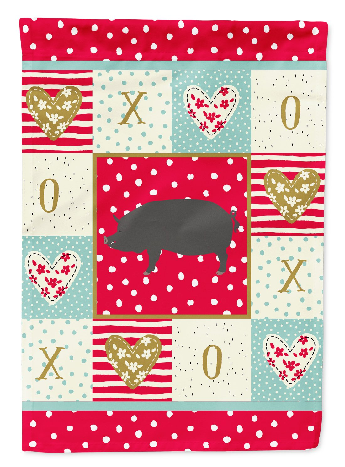 Berkshire Pig Love Flag Garden Size CK5360GF by Caroline's Treasures