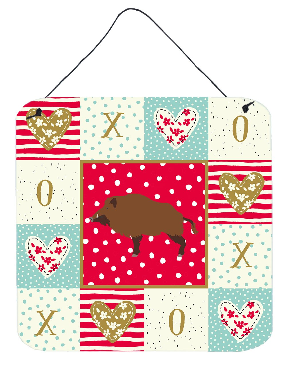 Buy this Wild Boar Pig Love Wall or Door Hanging Prints CK5363DS66