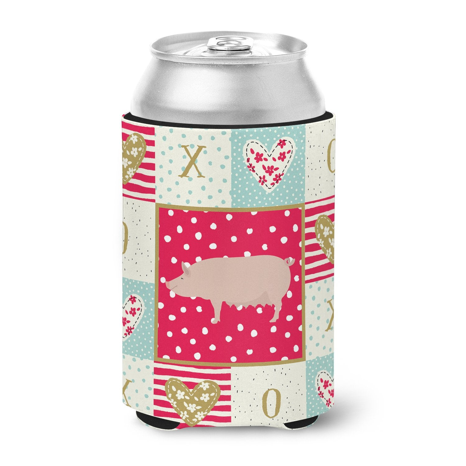 English Large White Pig Love Can or Bottle Hugger CK5365CC by Caroline's Treasures