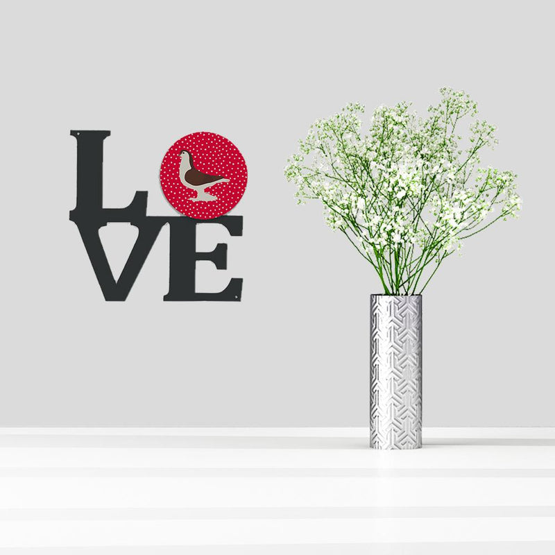 Buy this Large Pigeon Love Metal Wall Artwork LOVE CK5370WALV