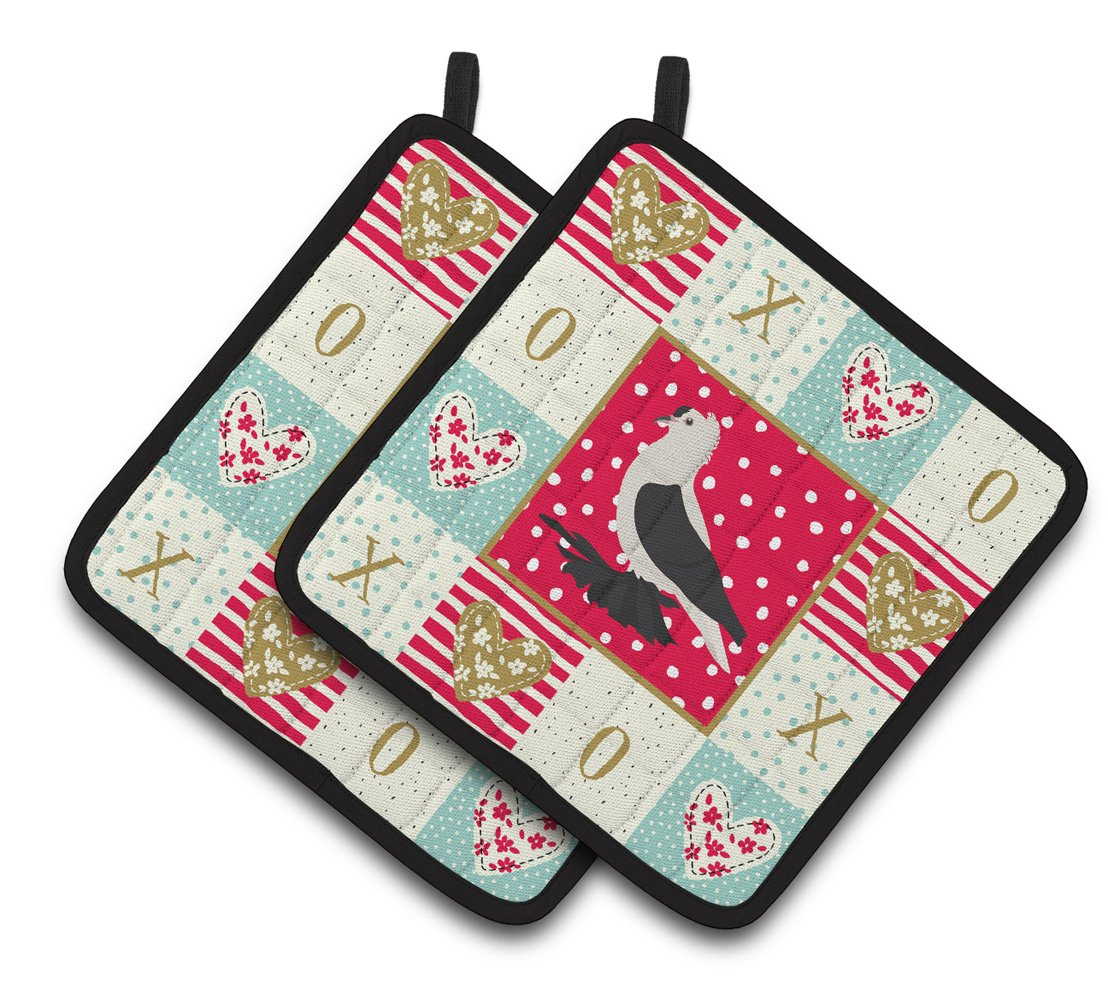 Buy this Saxon Fairy Swallow Pigeon Love Pair of Pot Holders CK5373PTHD