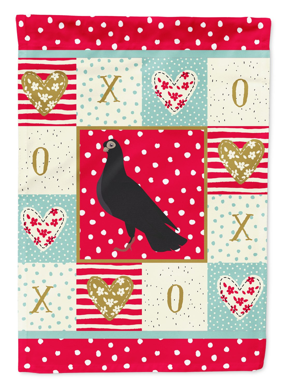 Budapest Highflyer Pigeon Love Flag Garden Size CK5374GF by Caroline's Treasures