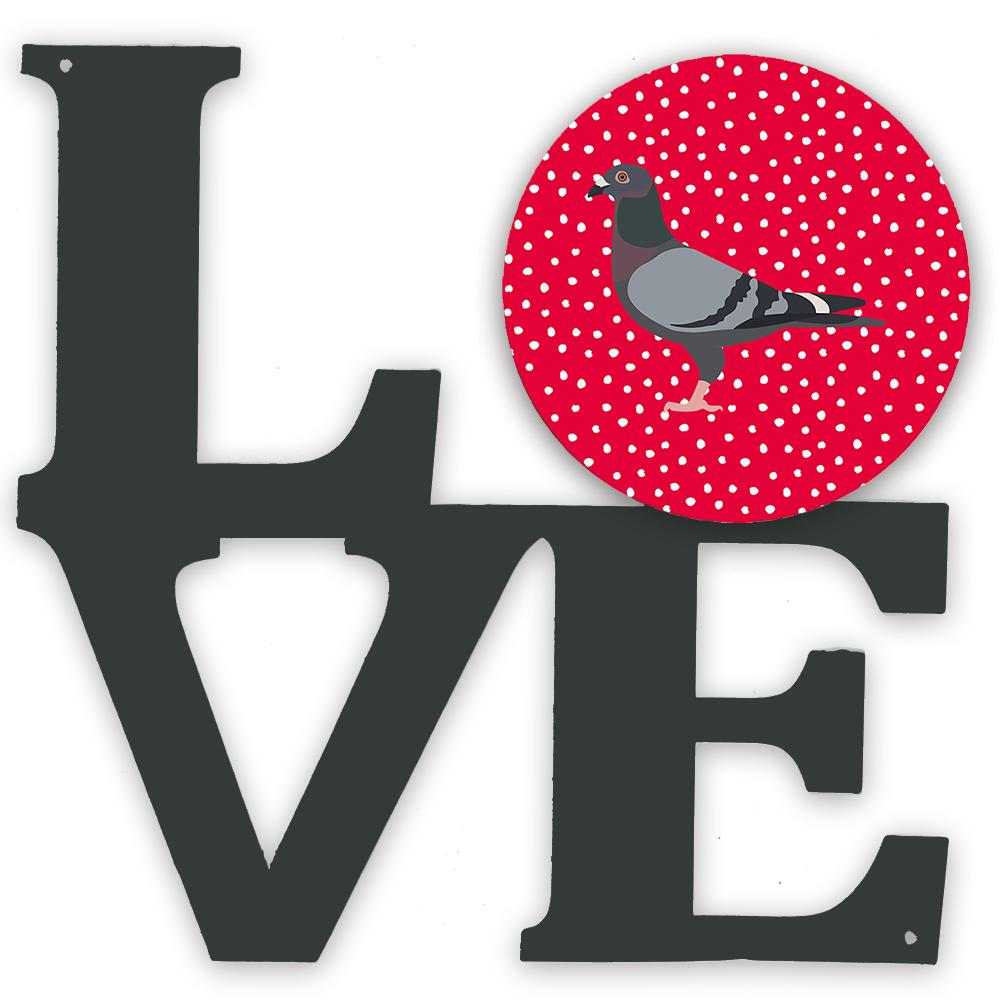 Buy this Racing Pigeon Love Metal Wall Artwork LOVE CK5378WALV