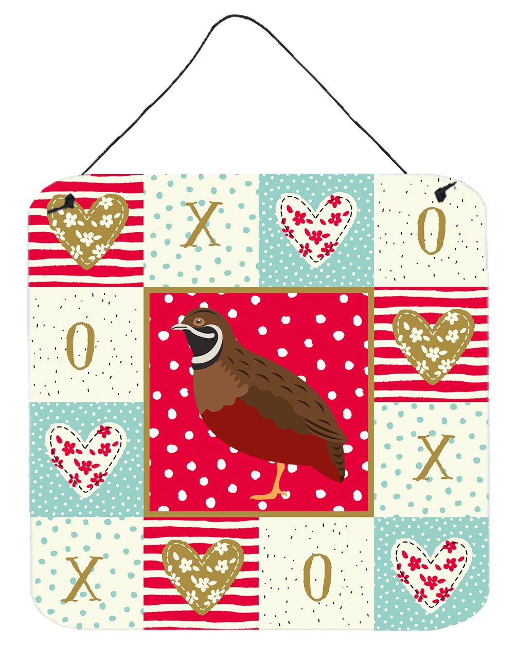 Chinese Painted or King Quail Love Wall or Door Hanging Prints CK5383DS66 by Caroline's Treasures