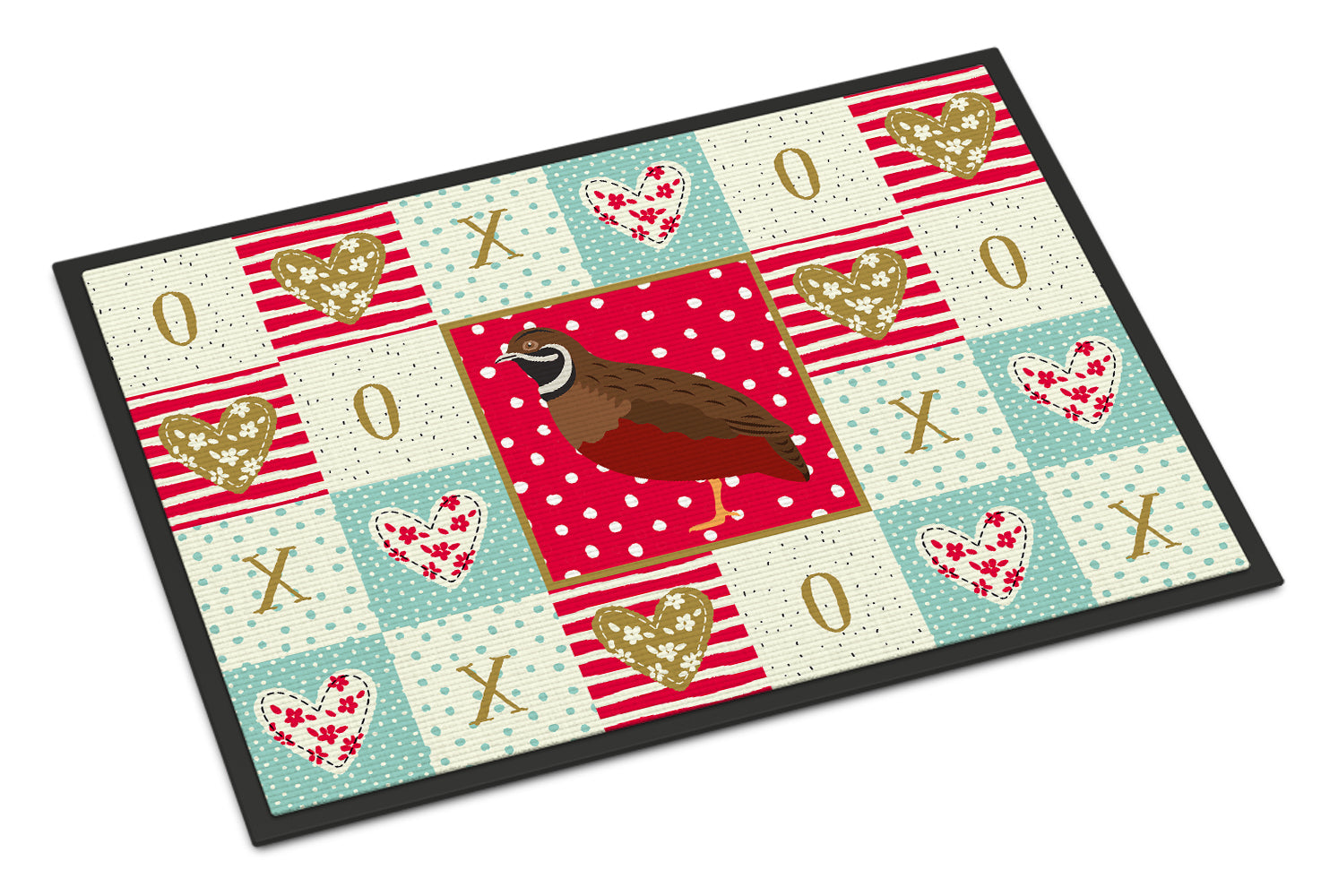 Buy this Chinese Painted or King Quail Love Indoor or Outdoor Mat 18x27 CK5383MAT