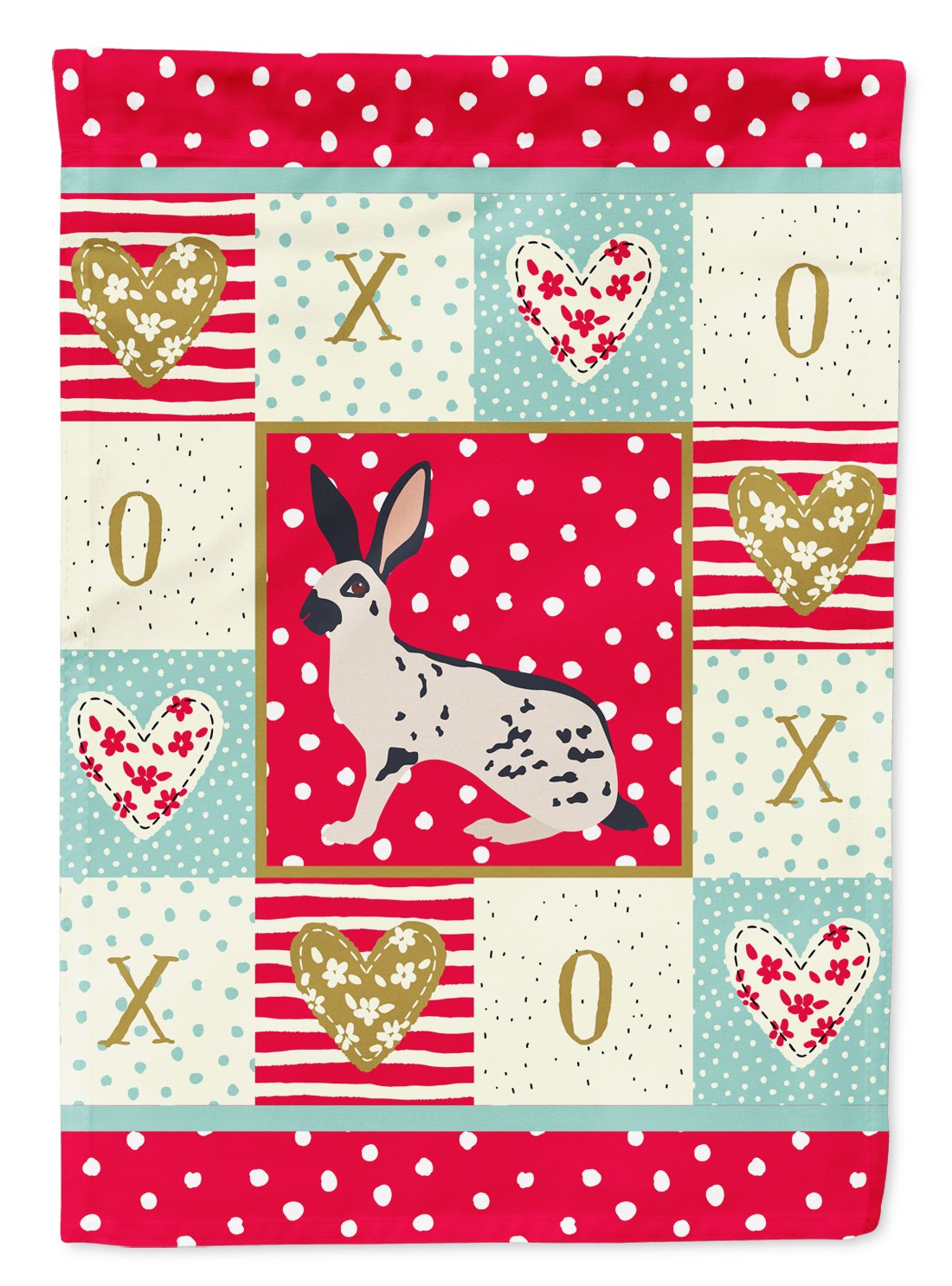 English Spot Rabbit Love Flag Garden Size CK5388GF by Caroline's Treasures