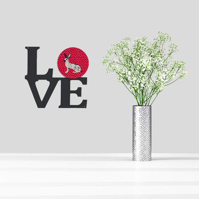 Buy this English Spot Rabbit Love Metal Wall Artwork LOVE CK5388WALV