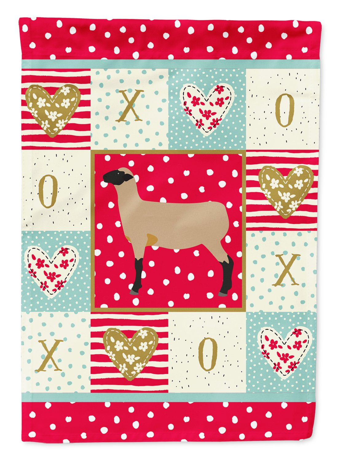 Hampshire Down Sheep Love Flag Garden Size CK5403GF by Caroline's Treasures