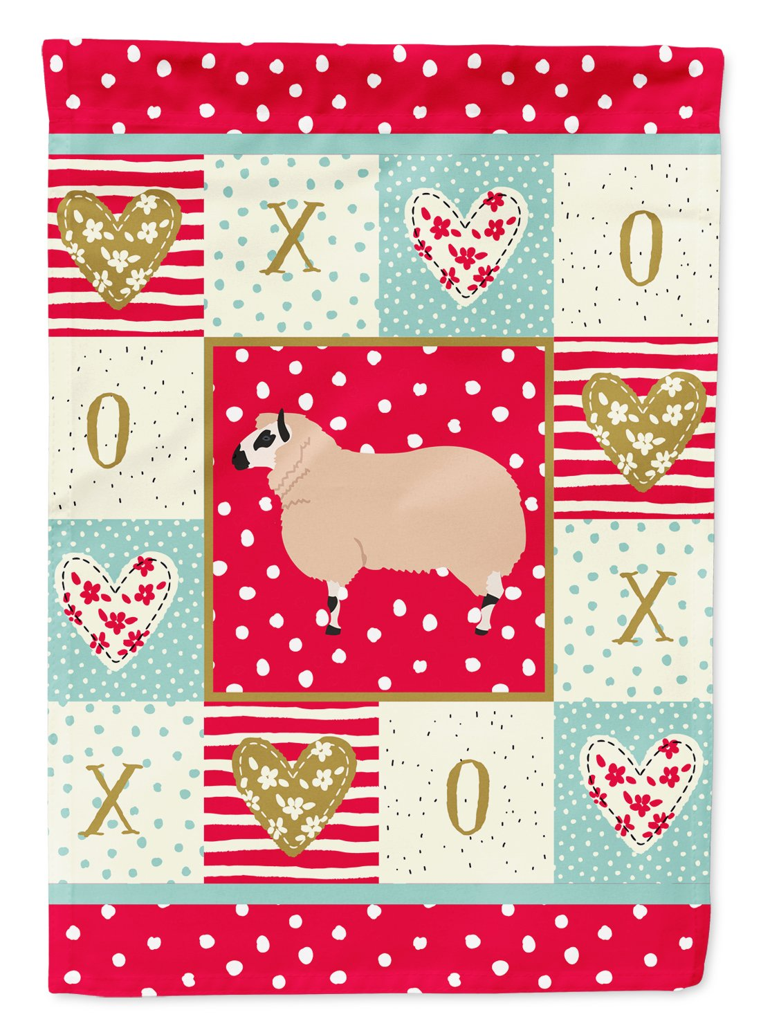 Kerry Hill Sheep Love Flag Garden Size CK5406GF by Caroline's Treasures