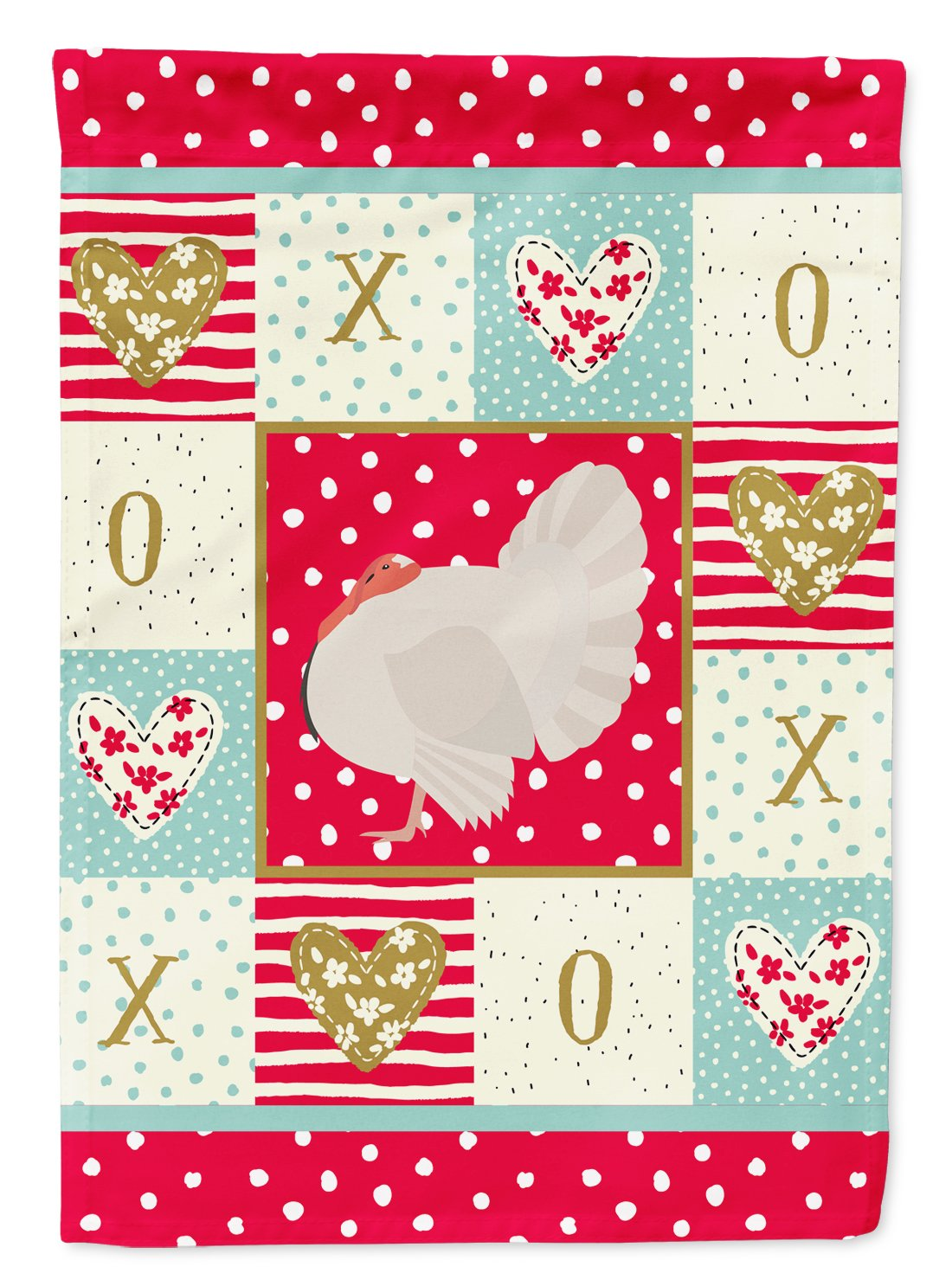 White Holland Turkey Love Flag Garden Size CK5410GF by Caroline's Treasures