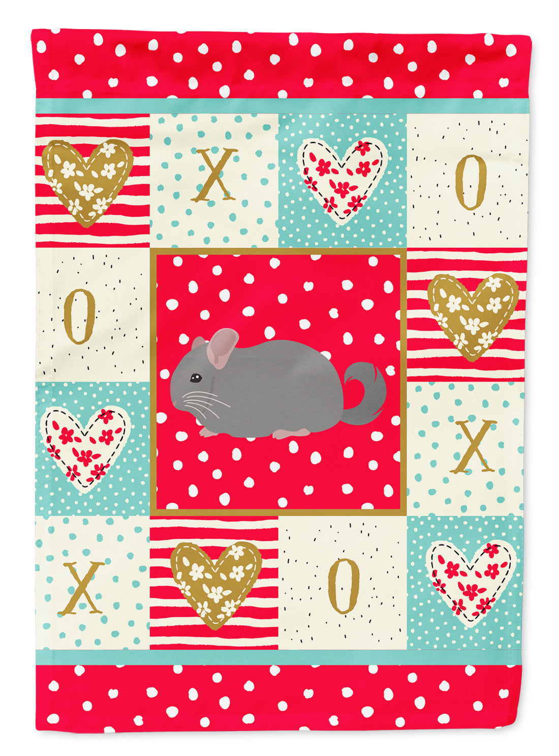 Agouti Chinchilla Love Flag Canvas House Size CK5418CHF by Caroline's Treasures