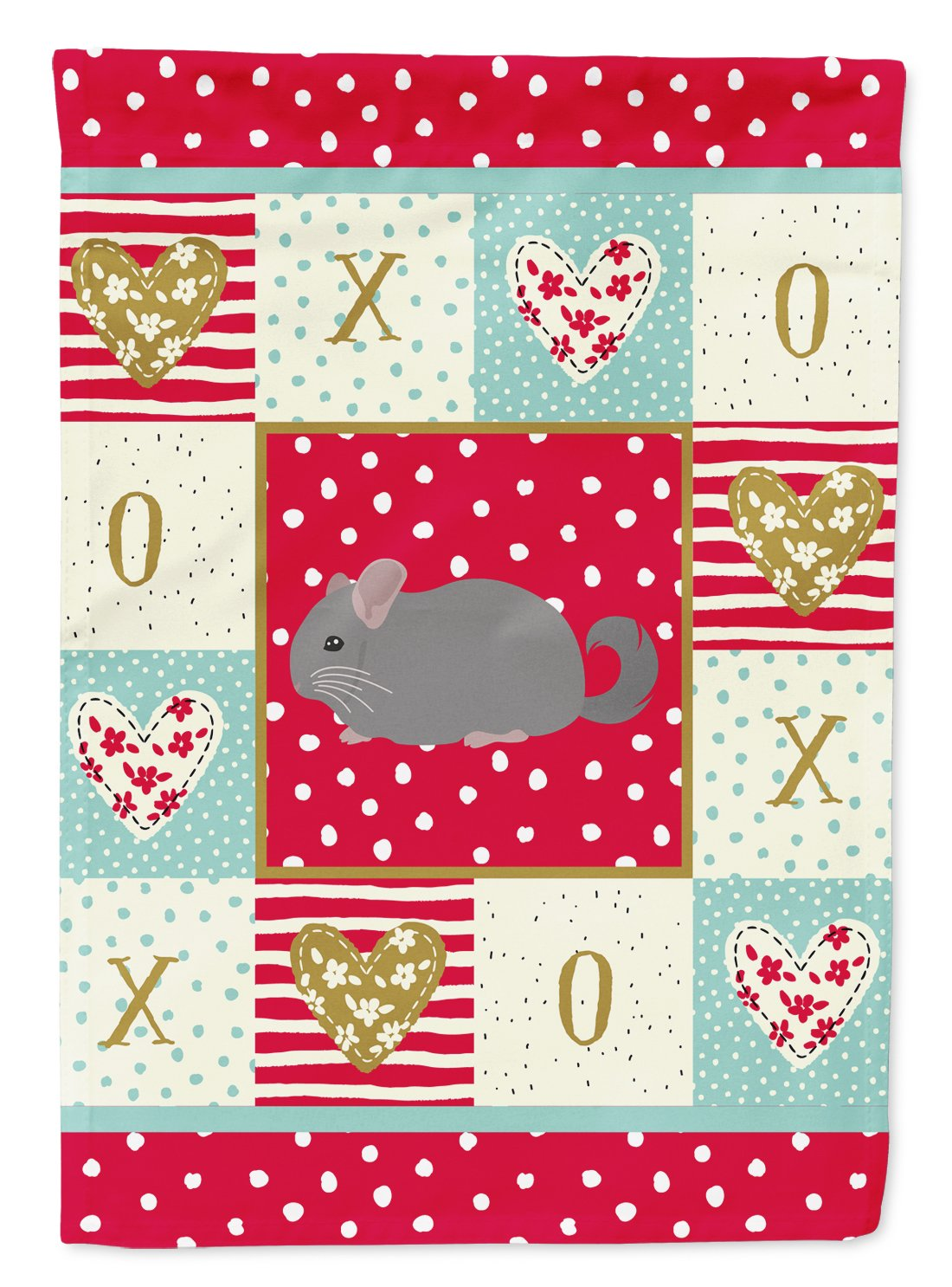 Agouti Chinchilla Love Flag Garden Size CK5418GF by Caroline's Treasures