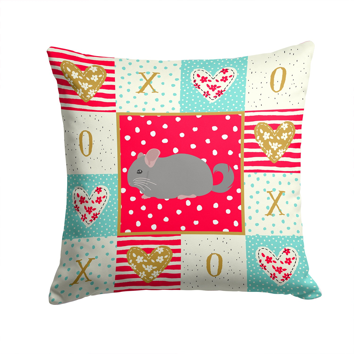 Buy this Agouti Chinchilla Love Fabric Decorative Pillow CK5418PW1414
