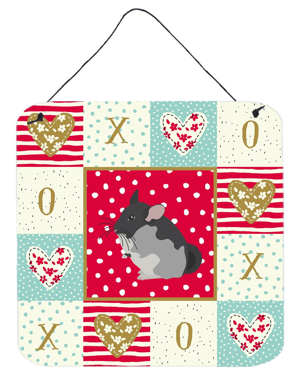 Buy this Black Velvet Chinchilla Love Wall or Door Hanging Prints CK5420DS66