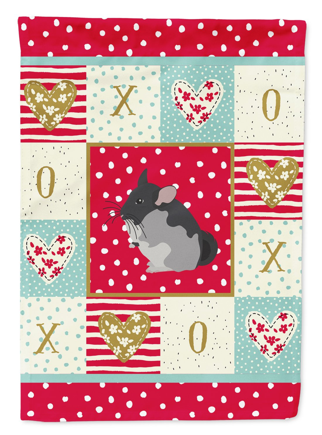 Black Velvet Chinchilla Love Flag Garden Size CK5420GF by Caroline's Treasures