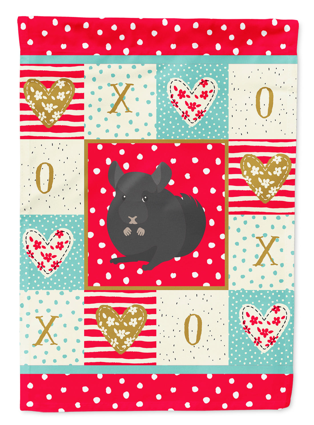 Charcoal Chinchilla Love Flag Canvas House Size CK5421CHF by Caroline's Treasures