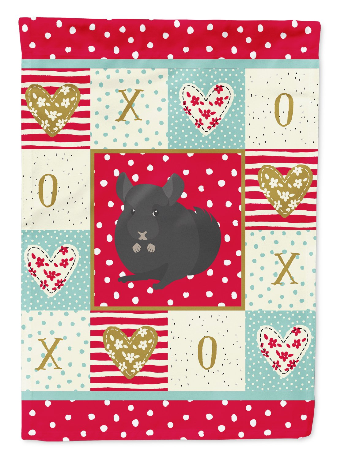 Charcoal Chinchilla Love Flag Garden Size CK5421GF by Caroline's Treasures