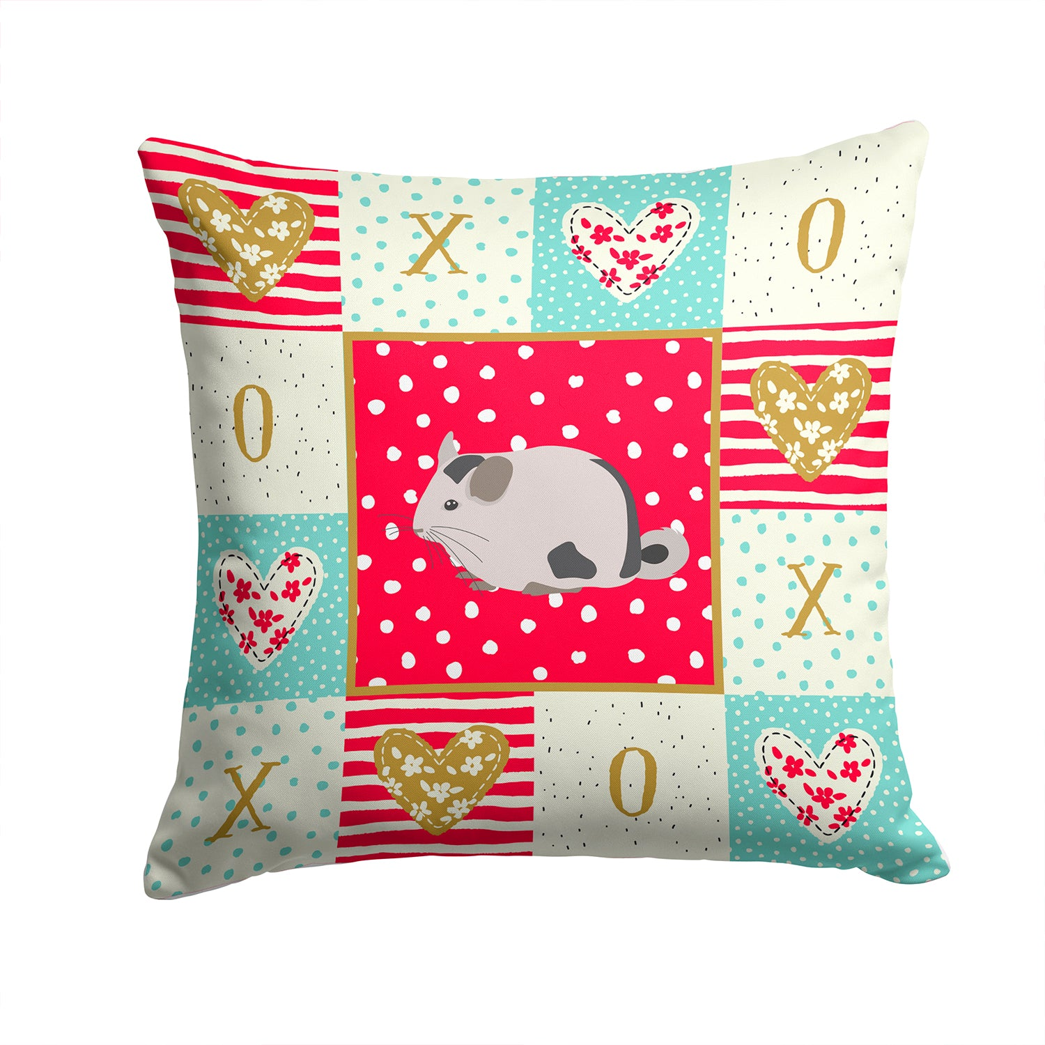 Mosaic Chinchilla Love Fabric Decorative Pillow CK5423PW1414 by Caroline's Treasures