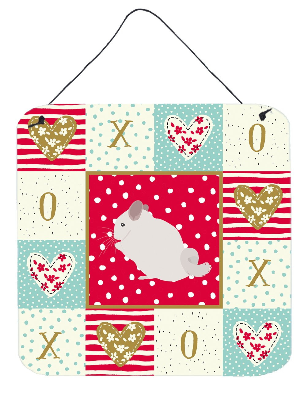 Buy this Pink and White Chinchilla Love Wall or Door Hanging Prints CK5424DS66