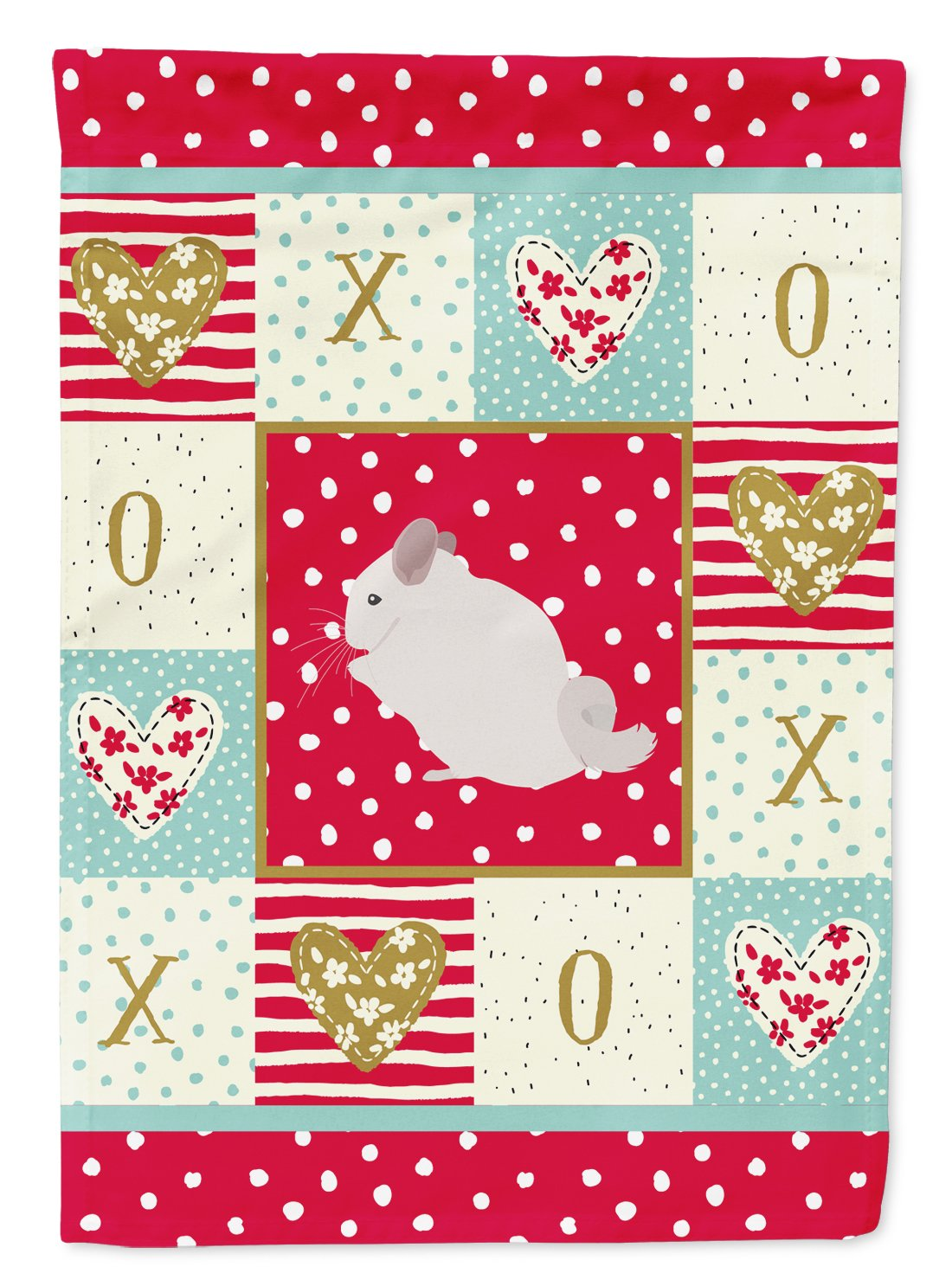 Pink and White Chinchilla Love Flag Garden Size CK5424GF by Caroline's Treasures