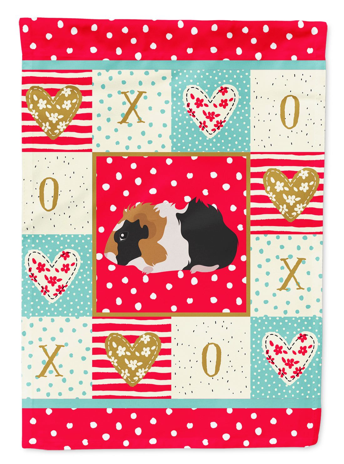 Abyssinian Guinea Pig Love Flag Canvas House Size CK5426CHF by Caroline's Treasures