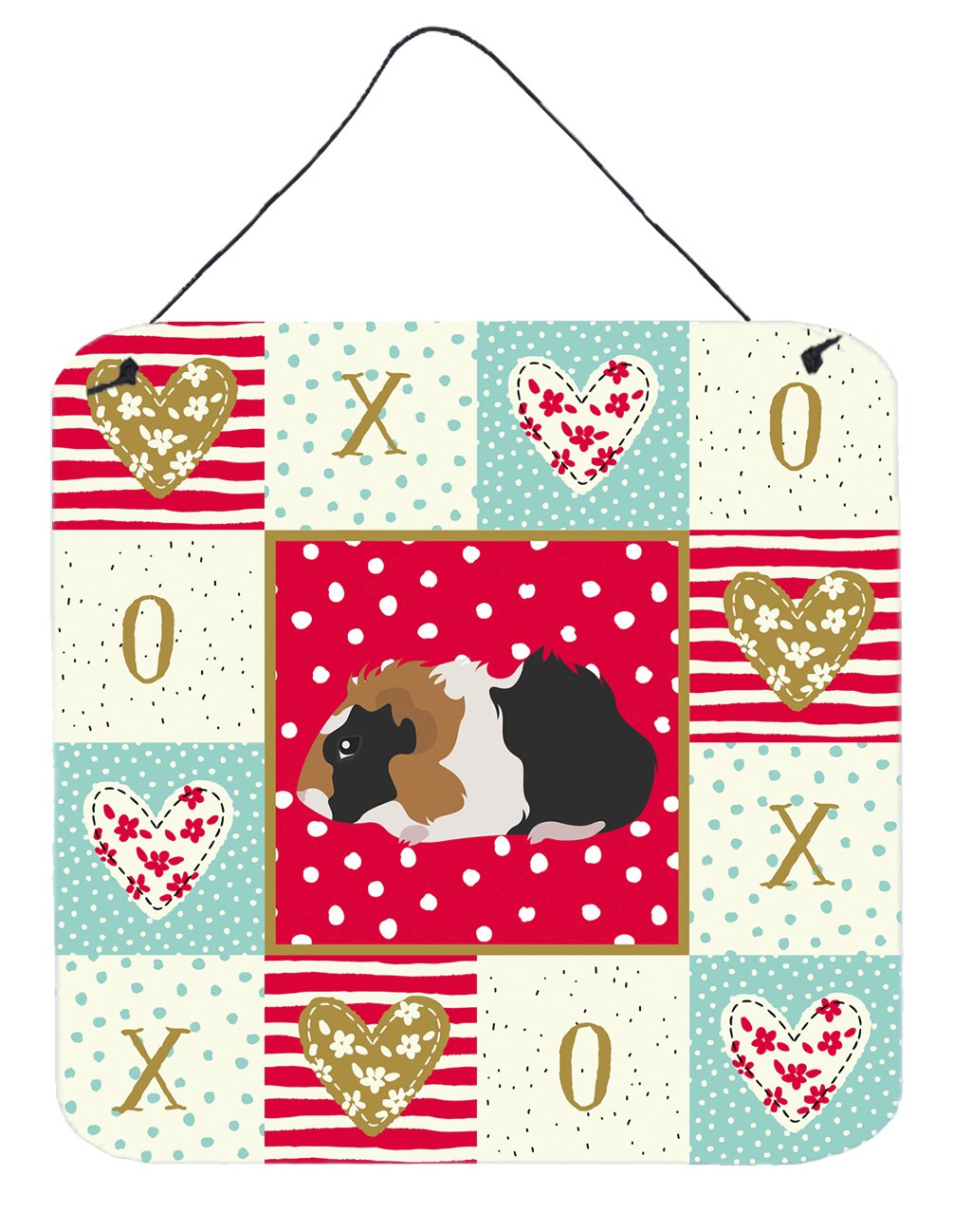 Abyssinian Guinea Pig Love Wall or Door Hanging Prints CK5426DS66 by Caroline's Treasures