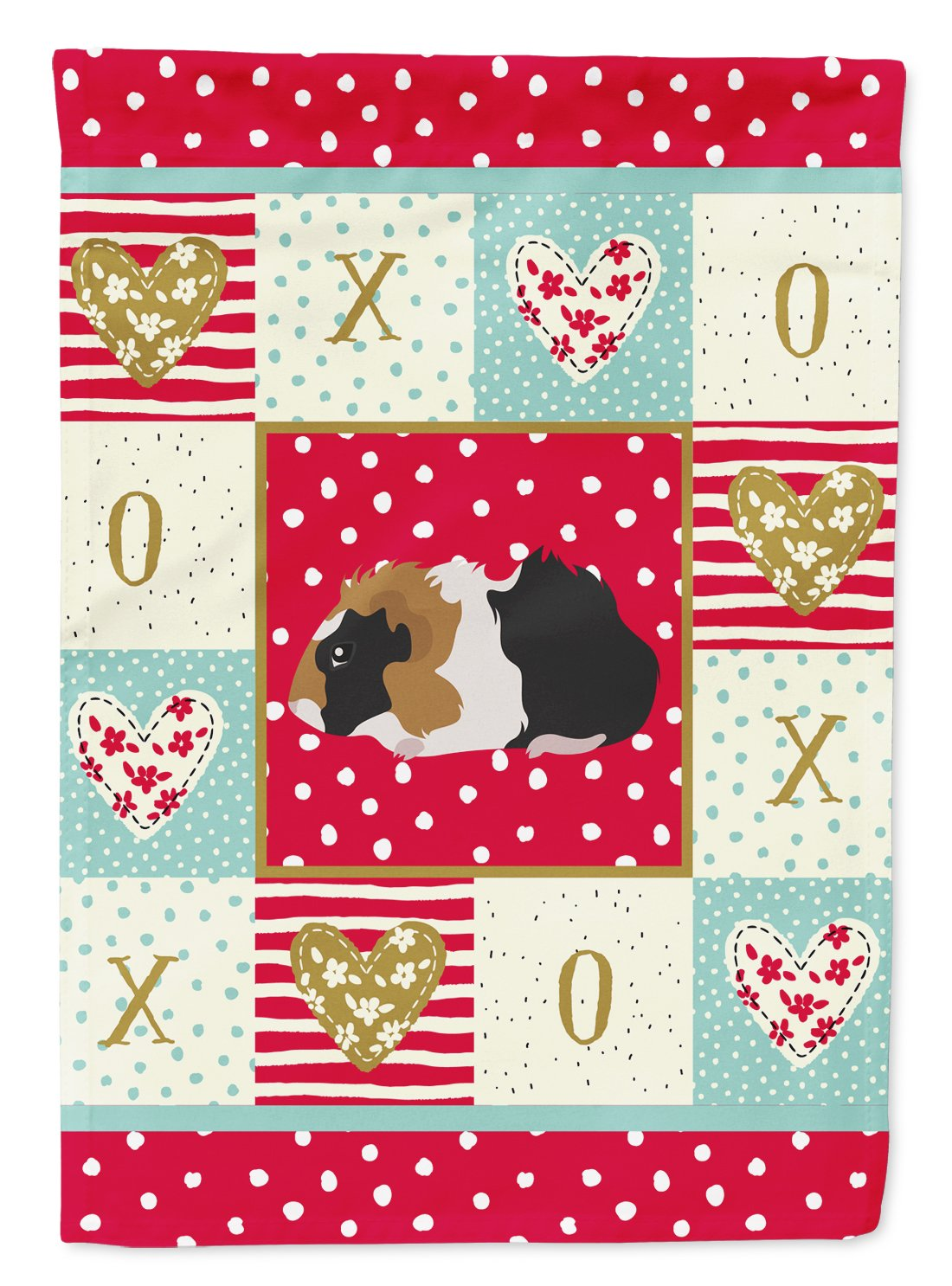 Abyssinian Guinea Pig Love Flag Garden Size CK5426GF by Caroline's Treasures