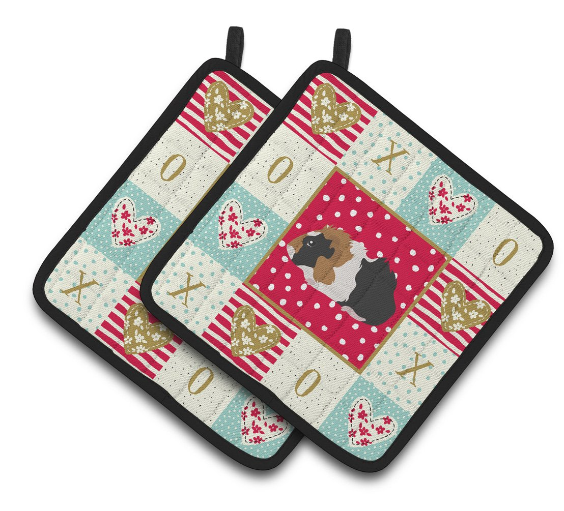 Abyssinian Guinea Pig Love Pair of Pot Holders CK5426PTHD by Caroline's Treasures