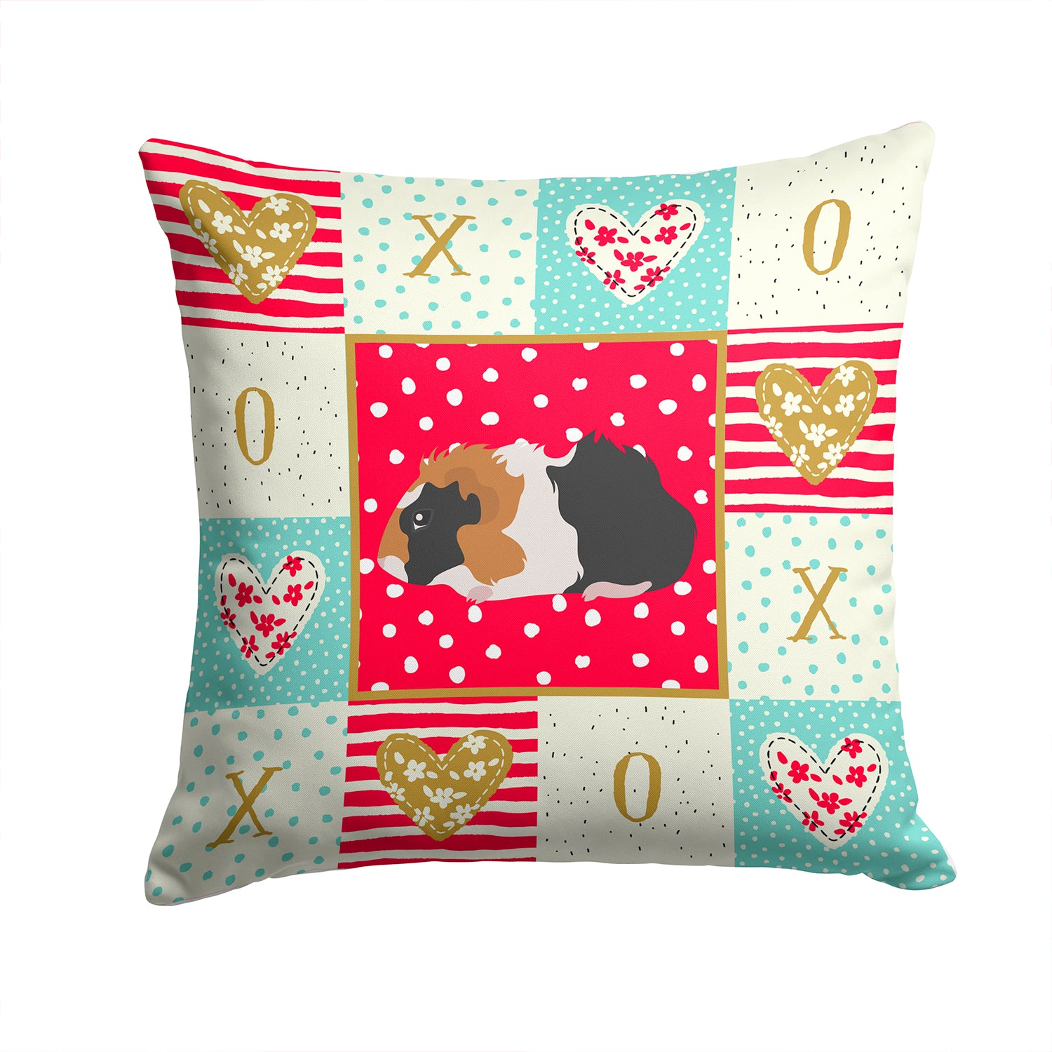 Abyssinian Guinea Pig Love Fabric Decorative Pillow CK5426PW1414 by Caroline's Treasures